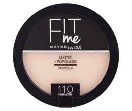 Maybelline New York Fit Me Matte + Poreless 110 Fair Ivory pudr 14g