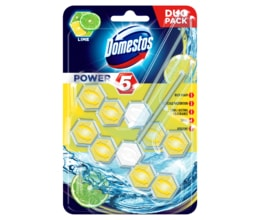 Domestos WC blok Power 5 Lemon duo pack 2x55g