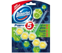 Domestos Power 5 Lime tuhý WC blok 55g
