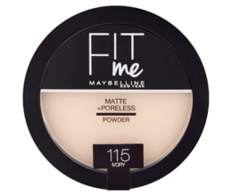 Maybelline New York Fit Me Matte + Poreless 115 Ivory pudr 14g
