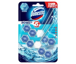 Domestos WC blok Power 5 Ocean duo pack 2x55g