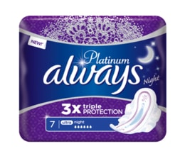 Always Platinum Night vložky 7ks