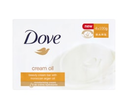 Dove Cream Oil krémová tableta na mytí 4 x 100g