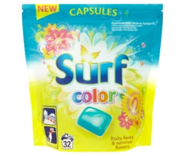 Surf Color Fruity Fiesta kapsle na praní 32 praní