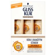 Schwarzkopf Gliss Kur Total repair 19 kúra pro velmi suché poškozené vlasy 3 x 20ml