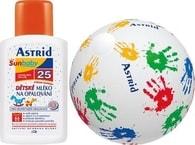 Astrid dětské mléko na opalování OF 25 + nafukovací míč