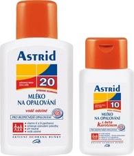 Astrid mléko na opalování OF 20 + mléko na opalování s beta karotenem OF 10