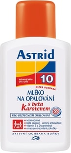 Astrid mléko na opalování s betakarotenem OF 10