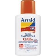 Astrid mléko na opalování s betakarotenem OF 15