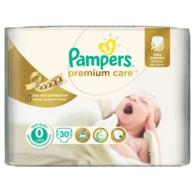 Pampers Premium Care 0 Newborn 30ks jednorázové plenky