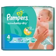 Pampers Active Baby 4 Maxi 36ks jednorázové plenky