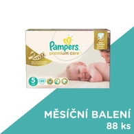 Pampers Premium Care 5 Junior 88ks jednorázové plenky