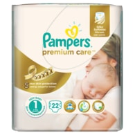 Pampers Premium Care 1 Newborn 22ks jednorázové plenky