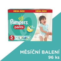 Pampers Mega Box 5 Junior 96ks kalhotkové plenky
