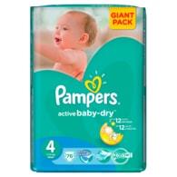 Pampers Active Baby 4 Maxi 76ks jednorázové plenky