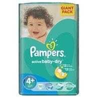 Pampers Active Baby 4 Maxi+ 70ks jednorázové plenky