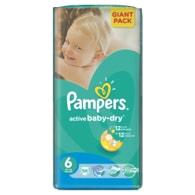 Pampers Active Baby 6 Extra Large 56ks jednorázové plenky