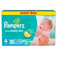 Pampers Active Baby 4 Maxi 90ks jednorázové plenky