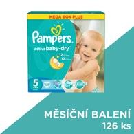 Pampers Active Baby 5 Junior 126ks jednorázové plenky