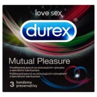Durex Mutual pleasure kondomy s vroubkovaným povrchem a speciálním lubrikantem 3 ks