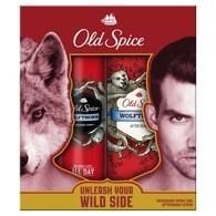 Old Spice Wolfthorn - dárková sada: deodorant ve spreji + voda po holení
