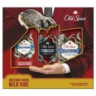 Old Spice Wolfthorn - dárková sada: deodorant ve spreji + sprchový gel + voda po holení
