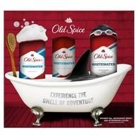 Old Spice WhiteWater - dárková sada: deodorant ve spreji + sprchový gel + voda po holení
