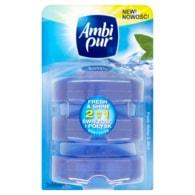 Ambi Pur Fresh Water & Mint WC blok náhradní náplň 3x55ml