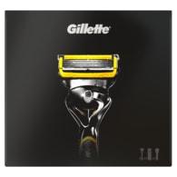 Vánoční kazeta Gillette Fusion: holicí strojek + gel na holení - cestovní pouzdro