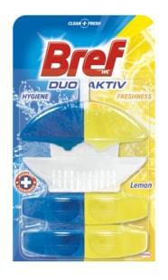 Bref Duo Aktiv Lemon WC blok + 2 náhradní náplně 3x50ml