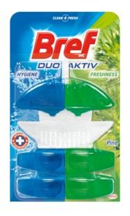 Bref Duo Aktiv Pine WC blok + 2 náhradní náplně 3x50ml