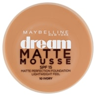 Maybelline New York Dream Matte Mousse matující make-up v lehké pěně SPF 15 10 Ivory 18ml
