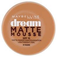 Maybelline New York Dream Matte Mousse matující make-up v lehké pěně SPF 15 21 Nude 18ml