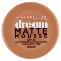 Maybelline New York Dream Matte Mousse matující make-up v lehké pěně SPF 15 30 Sand 18ml