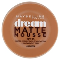 Maybelline New York Dream Matte Mousse matující make-up v lehké pěně SPF 15 40 Fawn 18ml