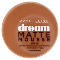 Maybelline New York Dream Matte Mousse matující make-up v lehké pěně SPF 15 48 Sun Beige 18ml