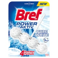 Bref Power Aktiv Pure White tuhý WC blok 50g