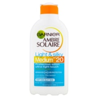 Garnier Ambre Solaire Light & Silky opalovací mléko OF 20 200ml