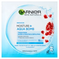Garnier Moisture + Aqua bomb Superhydratační textilní maska s granátovým jablkem 32g