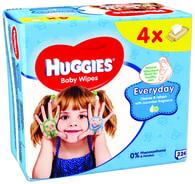 Huggies Everyday vlhčené ubrousky 4x56ks