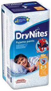 Huggies DryNites 3-5 let 10ks chlapci - kalhotkové pleny