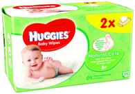 Huggies Natural vlhčené ubrousky 2x56ks
