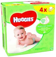 Huggies Natural vlhčené ubrousky 4x56ks