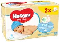 Huggies Pure vlhčené ubrousky 2x56ks