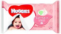 Huggies Soft Skin vlhčené ubrousky 56ks