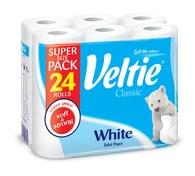 Veltie Classic White 2-vrstvý toaletní papír 24 rolí