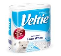 Veltie Pure White 2-vrstvé kuchyňské utěrky 2 role