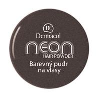Dermacol Barevný pudr na vlasy Neon č.6 - černá se třpytkami