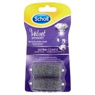 Scholl Velvet Smooth Rotační hlavice ultra drsná s dimantovými krystalky 2 ks